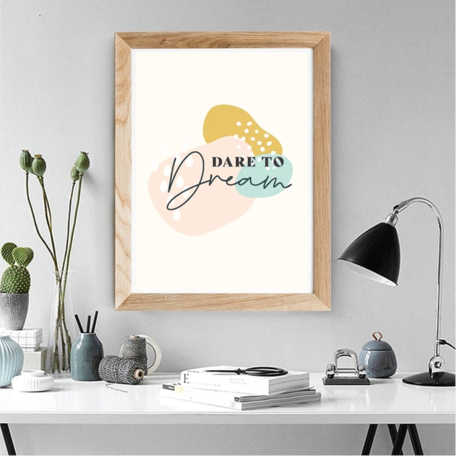 Dare to Dream inspiring wall art, Wall art-[ Projectgenz][Daretodreamshop]