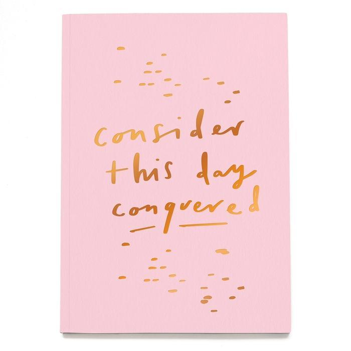 Conquer the day A5 planner pink, Notebook-[ Projectgenz][Daretodreamshop]