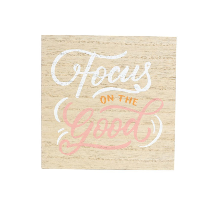 'Focus on the good' wooden quote, Gift-[ Projectgenz][Daretodreamshop]
