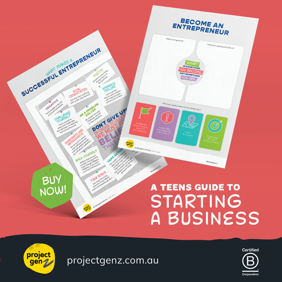 Digital guide for teens to start a business - Launchpad, online program-[ Projectgenz][Daretodreamshop]