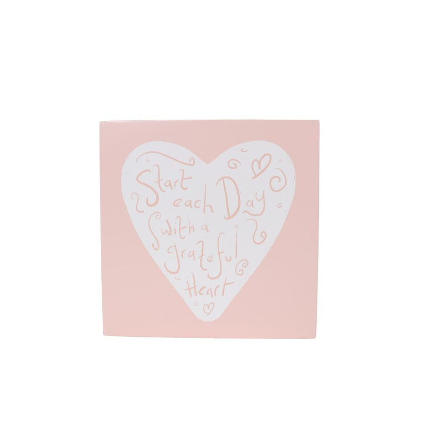 'Start each day with a grateful heart' wooden quote, Gift-[ Projectgenz][Daretodreamshop]