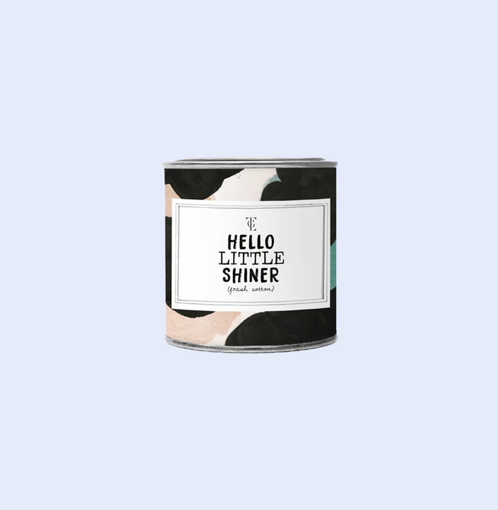 Hello Little Shiner candle tin 90g Jasmine Vanilla, Gift-[ Projectgenz][Daretodreamshop]