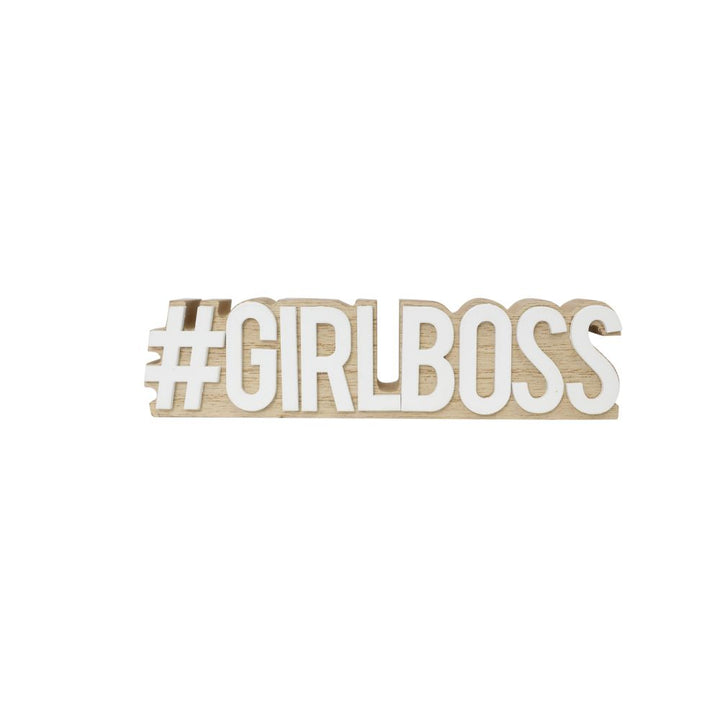 Mini #Girlboss wooden quote, Gift-[ Projectgenz][Daretodreamshop]
