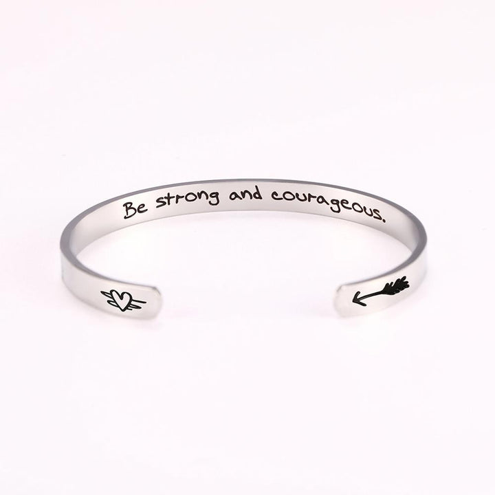 Be Strong and Courageous cuff bangle, Jewellery-[ Projectgenz][Daretodreamshop]