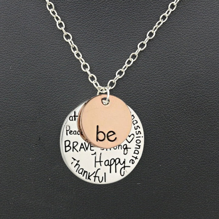 Be Happy, Be Brave silver Necklace, Jewellery-[ Projectgenz][Daretodreamshop]