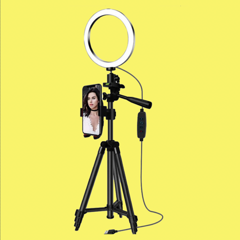 Extendable Tripod With Led Ring Light