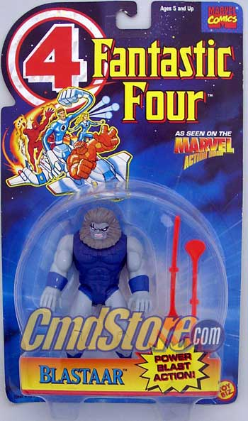 "BLASTAAR W/Power Blast 6"" Action Figure  FANTASTIC FOUR ANIMATED SERIES Marvel Toy Biz Toy"