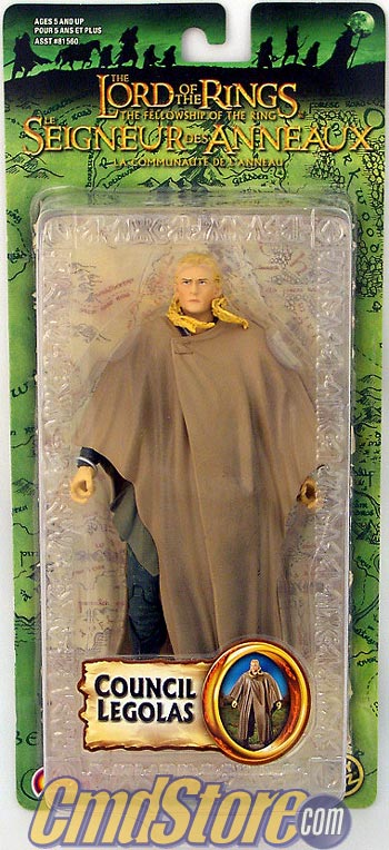 "COUNCIL LEGOLAS 6"" Action Figure FELLOWSHIP Series 5 LORD OF THE RINGS Toy Biz"