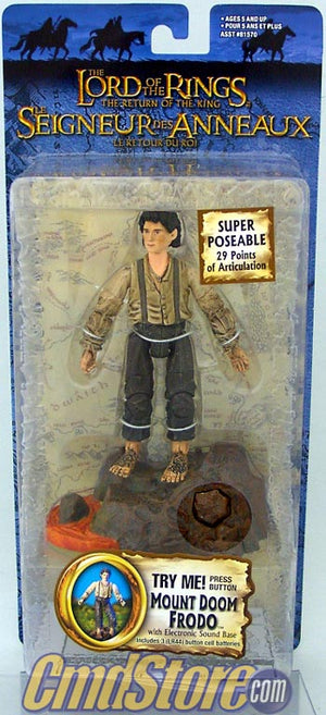 "MOUNT DOOM FRODO 6"" Action Figure RETURN OF THE KING Series 5 LORD OF THE RINGS Toy Biz"