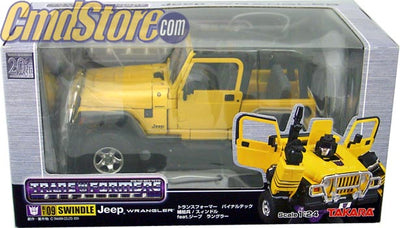 SWINDLE BT-09 Action Figure 1:24 Scale JEEP WRANGLER TRANSFORMERS Takara Toy