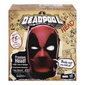 Marvel Legends Deadpool's Premium Interactive, Moving, Talking Electronic Head, App-Enhanced Adult Collectible