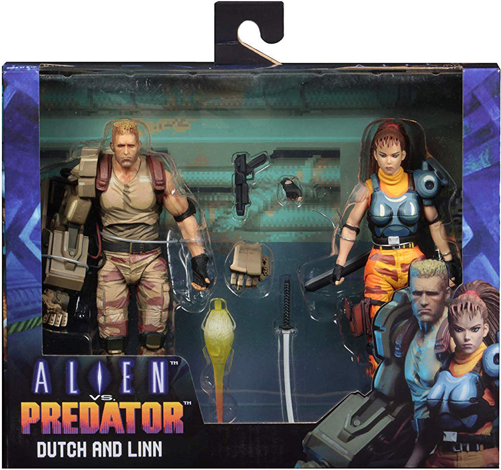 Alien vs Predator Arcade 8 Inch Action Figure Game Series - Dutch & Linn (Shelf Wear Packaging)