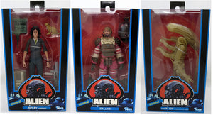 Aliens 40th Anniversary 7 Inch Action Figure Series 1 - Set of 3 (Ripley - Dallas - Big Chap)