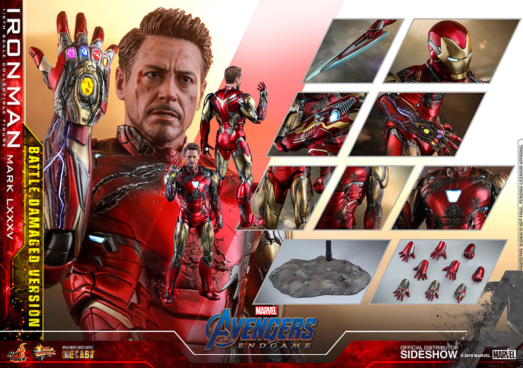 Avengers Endgame 12 Inch Action Figure 1/6 Scale Series - Iron Man Mark LXXXV Battle Damaged Version Hot Toys 904923