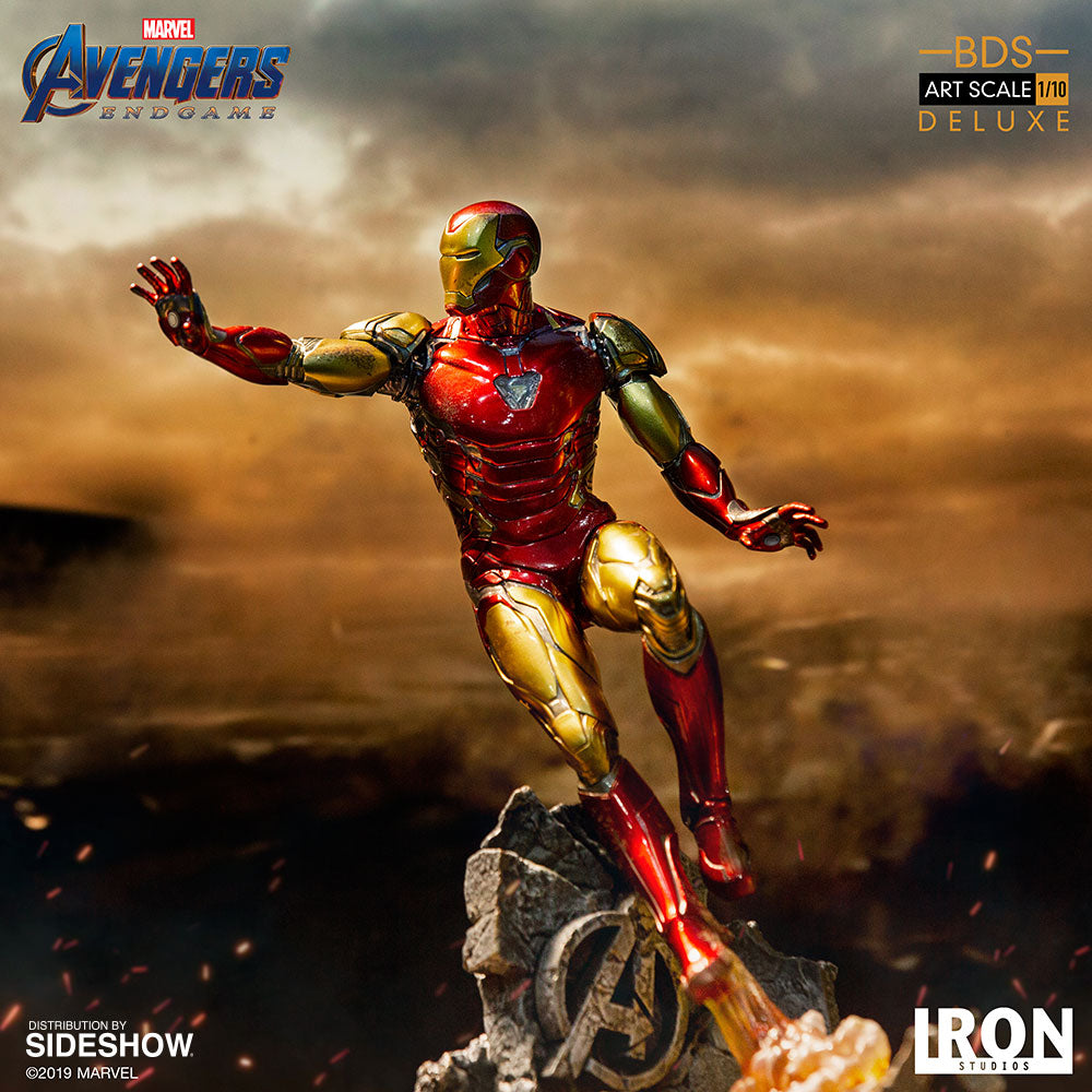 Avengers Endgame 10 Inch Statue Figure Battle Diorama Series - Iron Man Mark LXXXV Deluxe Version Iron Studios 904715
