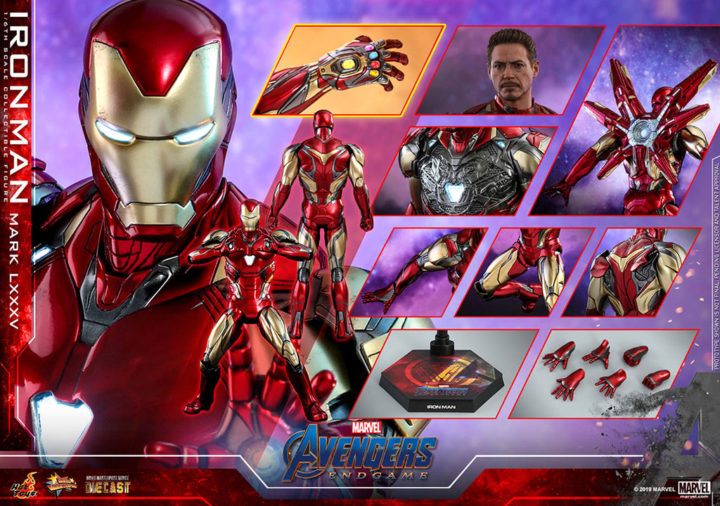 Avengers Endgame 12 Inch Action Figure Movie Masterpiece 1/6 Scale Series - Iron Man Mark LXXXV Hot Toys 904599