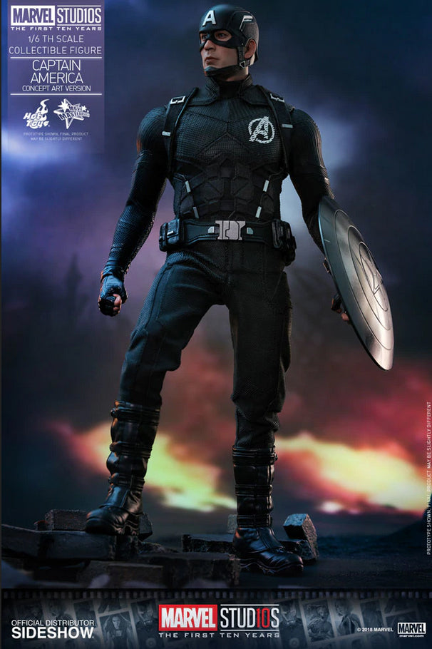 Captain America Civil War 12 Inch Action Figure 1/6 Scale Series - Captain America Concept Art Version Hot Toys 903624