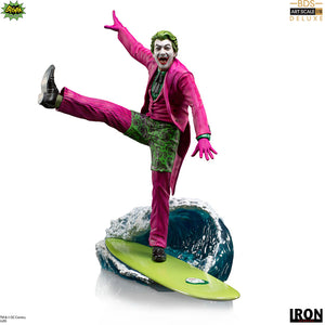 DC 1:10 Art Scale Batman 1966 9 Inch Statue Figure - The Joker Deluxe Iron Studios 906727