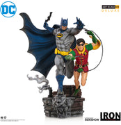 DC Collectible Batman Comics 10 Inch Statue Figure 1:10 Art Scale - Batman & Robin Deluxe Iron Studios 906388