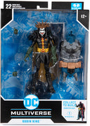 DC Multiverse Comic Series 7 Inch Action Figure BAF Darkfather - Death Metal Robin King
