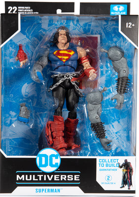 DC Multiverse Comic Series 7 Inch Action Figure BAF Darkfather - Death Metal Superman