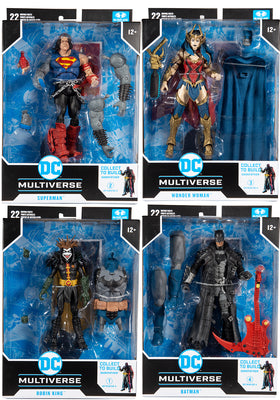 DC Multiverse Comic Series 7 Inch Action Figure BAF Darkfather - Set of 4 (Build-A-Figure Darkfather)