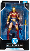 DC Multiverse 7 Inch Action Figure Comic Series - Wonder Woman with Helmet