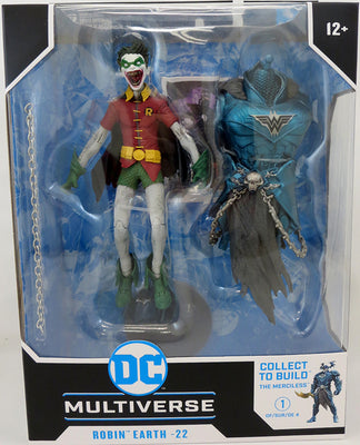 DC Multiverse Dark Nights Metal 7 Inch Action Figure BAF The Merciless - Robin Crow Earth-22 (Wide Eyes & Mouth)