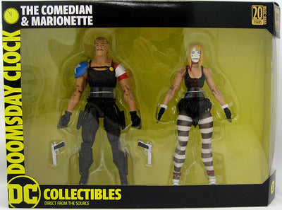Doomsday Clock 6 Inch Action Figure 2-Pack Series - Comedian & Marionette (Shelf Wear Packaging)