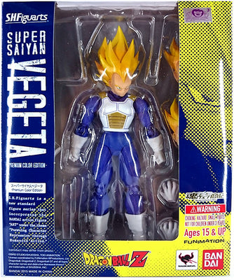 Dragonball Z 5 Inch Action Figure S.H. Figuarts - Super Saiyan Vegeta Premium Color