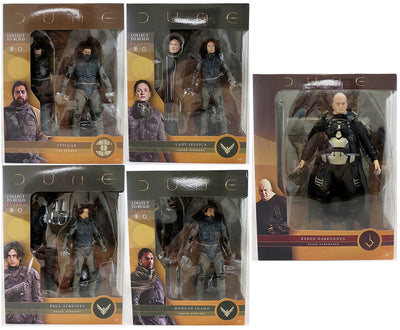 Dune 7 Inch Action Figure BAF Rabban - Set of 5 (Paul - Duncan - Jessica - Stilgar - Baron)