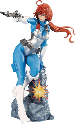 G.I. Joe 8 Inch Statue Figure Bishoujo Exclusive - Sky Blue Scarlett