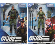 G.I. Joe 6 Inch Action Figure Classified Series 4 - Set of 2 (Lady Jaye - Flint)