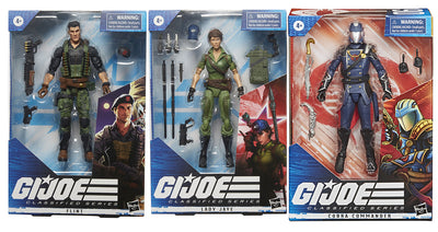 G.I. Joe 6 Inch Action Figure Classified Series 4 - Set of 3 (Lady Jaye - Flint - Cobra Commander)