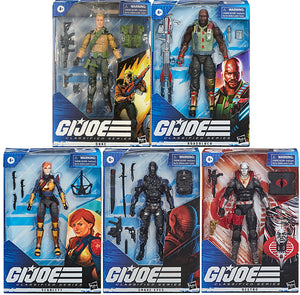 G.I. Joe 6 Inch Action Figure Classified Series - Set of 5 (#01 - #05) (Duke is Repaint Version)