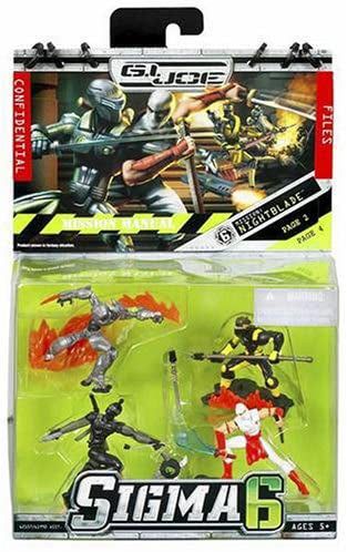 G.I. Joe Sigma 6 2 Inch Action Figure Mission Series - Nightblade