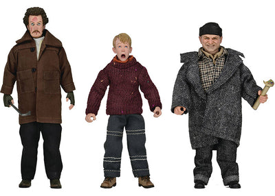 Home Alone 8 Inch Action Figure Retro Clothed Series - Set of 3 (Kevin - Harry - Marv)