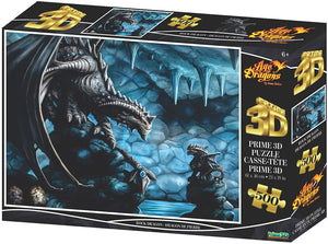 Jigsaw 3D Puzzle Anne Stokes 24 Inch by 18 Inch Puzzle 500 Piece - Rock Dragon