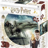 Jigsaw 3D Puzzle Harry Potter 24 Inch by 18 Inch Puzzle 500 Piece - Harry Potter Norbert and Hermoine Granger
