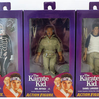 Karate Kid 8 Inch Action Figure Retro Clothed Series - Set of 3 (Johnny - Miyagi - Daniel)