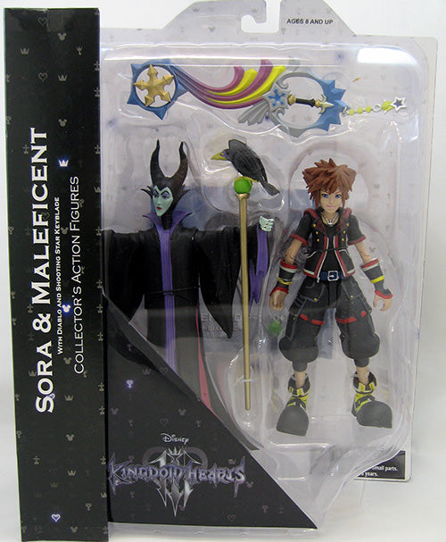 Kingdom Hearts 3 7 Inch Action Figure Select Series - Sora & Maleficent (Shelf Wear Packaging)