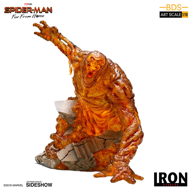 Marvel Art Scale 1:10 10 Inch Statue Figure Battle Diorama - Molten Man Iron Studios 905355