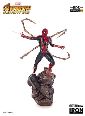Marvel 1:10 Art Scale 10 Inch Statue Figure Avengers: Infinity War Battle Diorama - Iron Spider-Man Iron Studios 903606