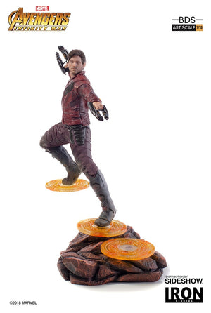 Marvel Art Scale 9 Inch Statue Figure Avengers Infinity War Battle Diorama - Star-Lord Iron Studios 903613 (Shelf Wear)