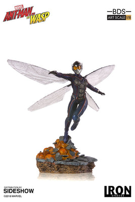Marvel 1:10 Art Scale 9 Inch Statue Figure Marvel Ant-Man & The Wasp Battle Diorama - Wasp Iron Studios 904218