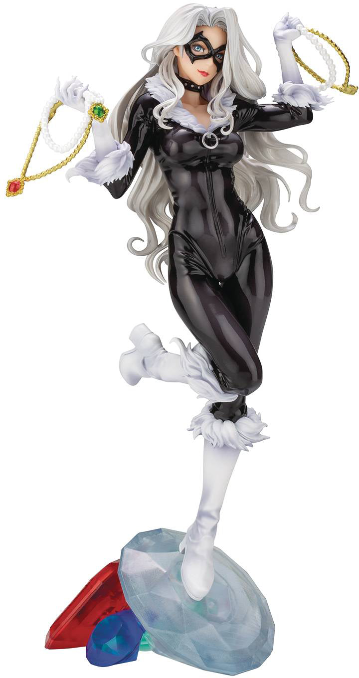 Marvel Collectible Bishoujo 9 Inch Statue Figure - Black Cat Steal Your Heart