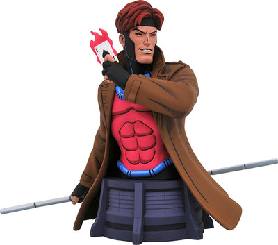 Marvel Collectible X-Men Aninated 7 Inch Bust Statue - Gambit