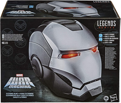 Marvel Legends Avengers Life Size Prop Replica Helmet - War Machine Premium Electronic Helmet