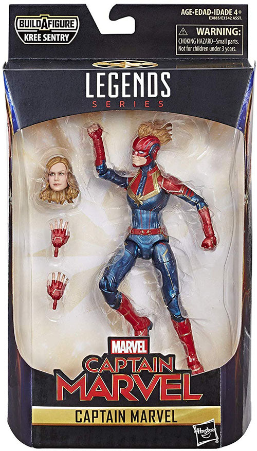 Marvel Legends Captain Marvel 6 Inch Action Figure Kree Sentry Series - Captain Marvel in Uniform
