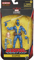 Marvel Legends Deadpool 6 Inch Action Figure BAF Strong Guy Series - Deadpool Blue & Gold